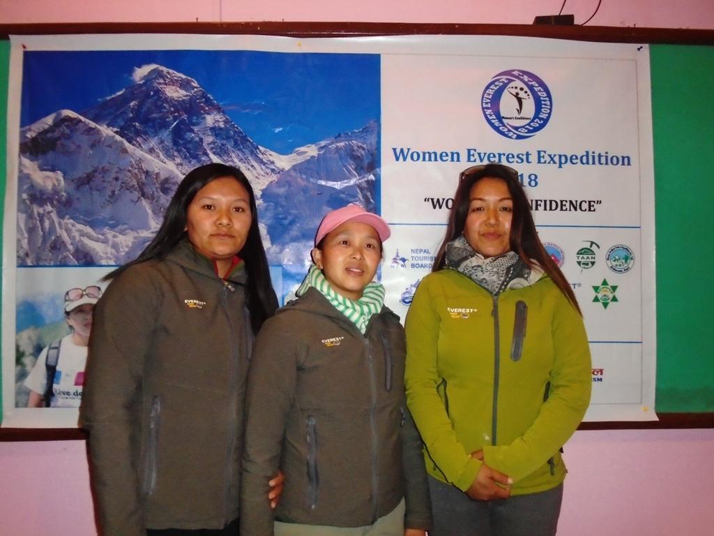 Women everest expedition 2018 team